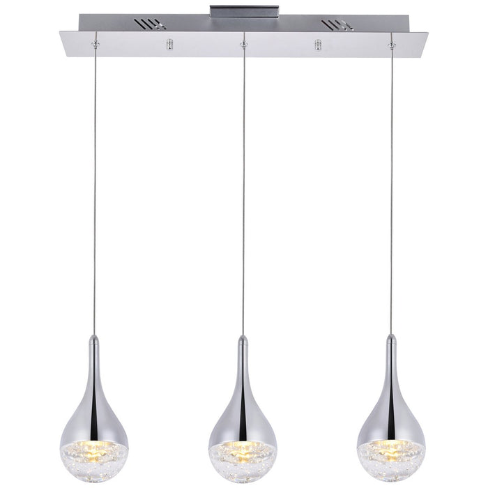 Elegant Lighting Amherst Led 3-Light Chandelier in Chrome