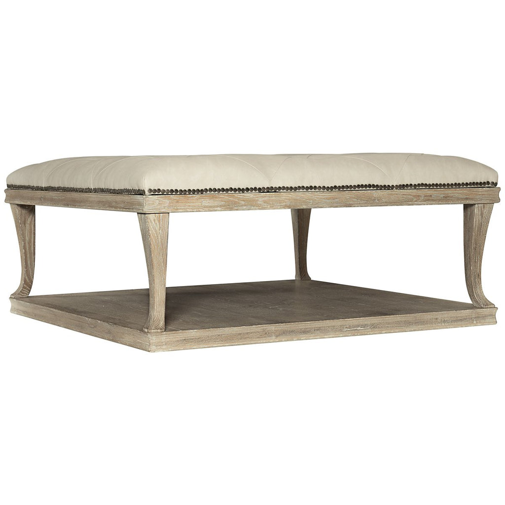 Bernhardt Rustic Patina Upholstered Cocktail Table