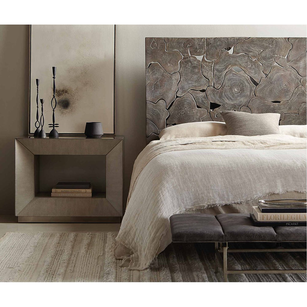 Bernhardt Interiors Calavaras Laminated Teak Panel Bed - King