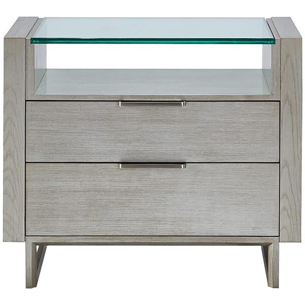 Hickory White Modern Retreat Mirage Silver Fox Bedside Chest