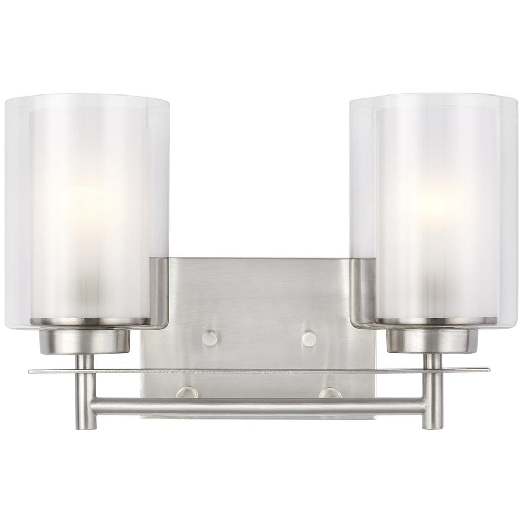 Sea Gull Lighting Elmwood Park 2-Light Bath Light - 9.5W