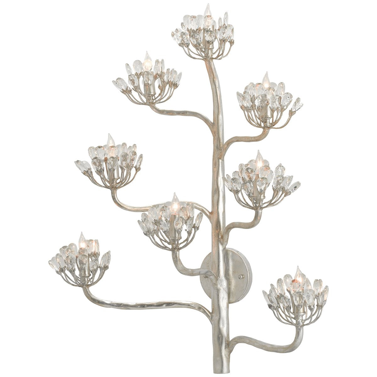 Currey and Company Agave Americana Silver Wall Sconce