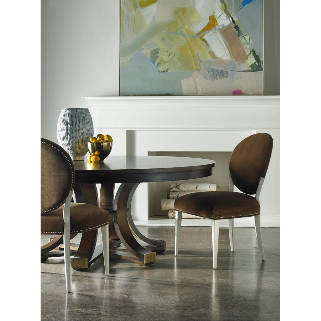 Hickory White Round Dining Table