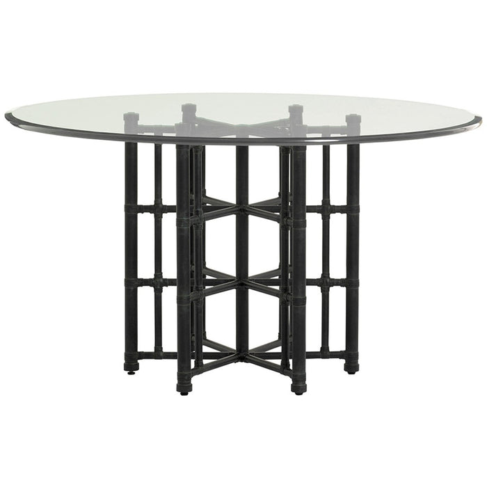 Tommy Bahama Twin Palms Stellaris Dining Table with Glass Top