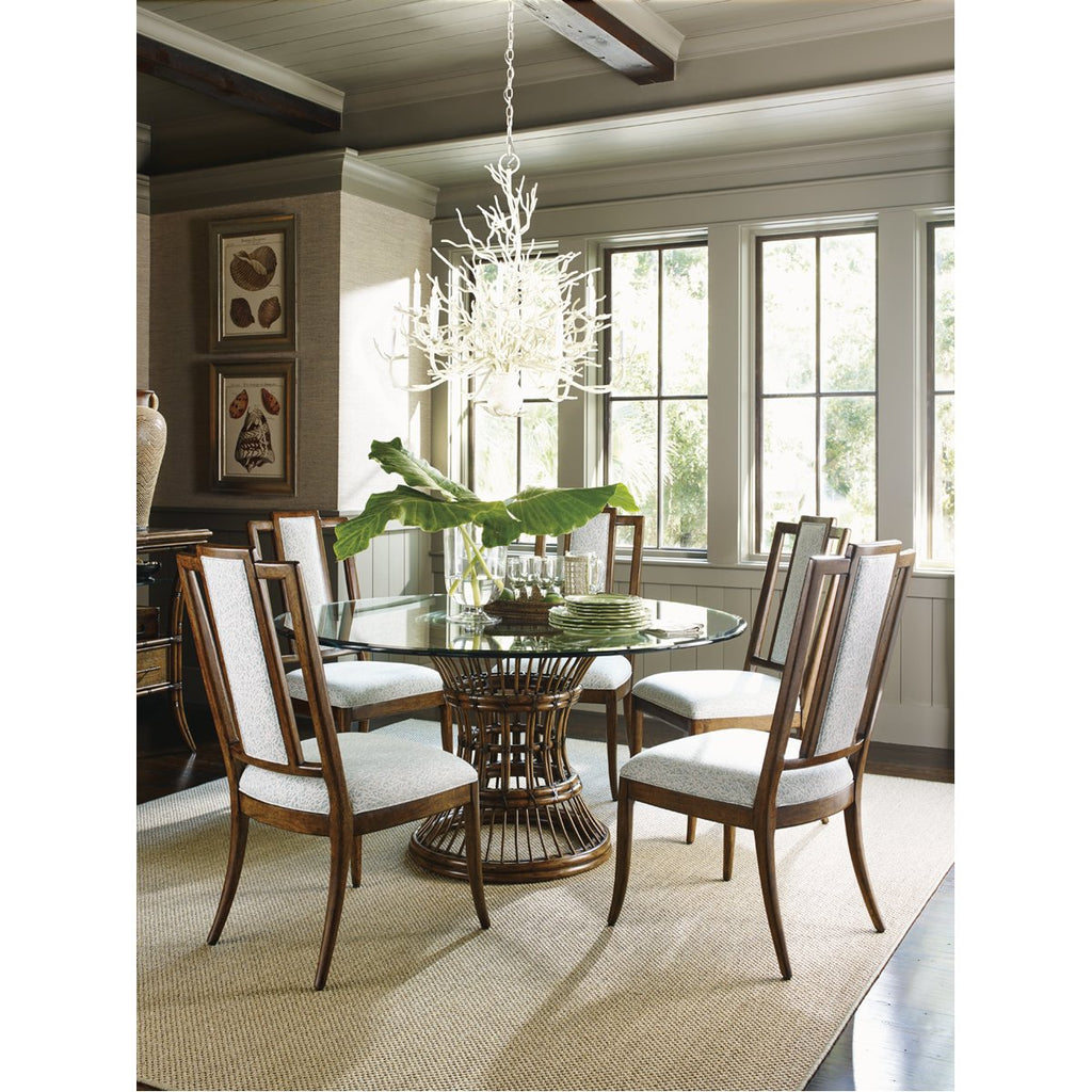 Tommy Bahama Bali Hai Latitude Dining Table with Glass Top