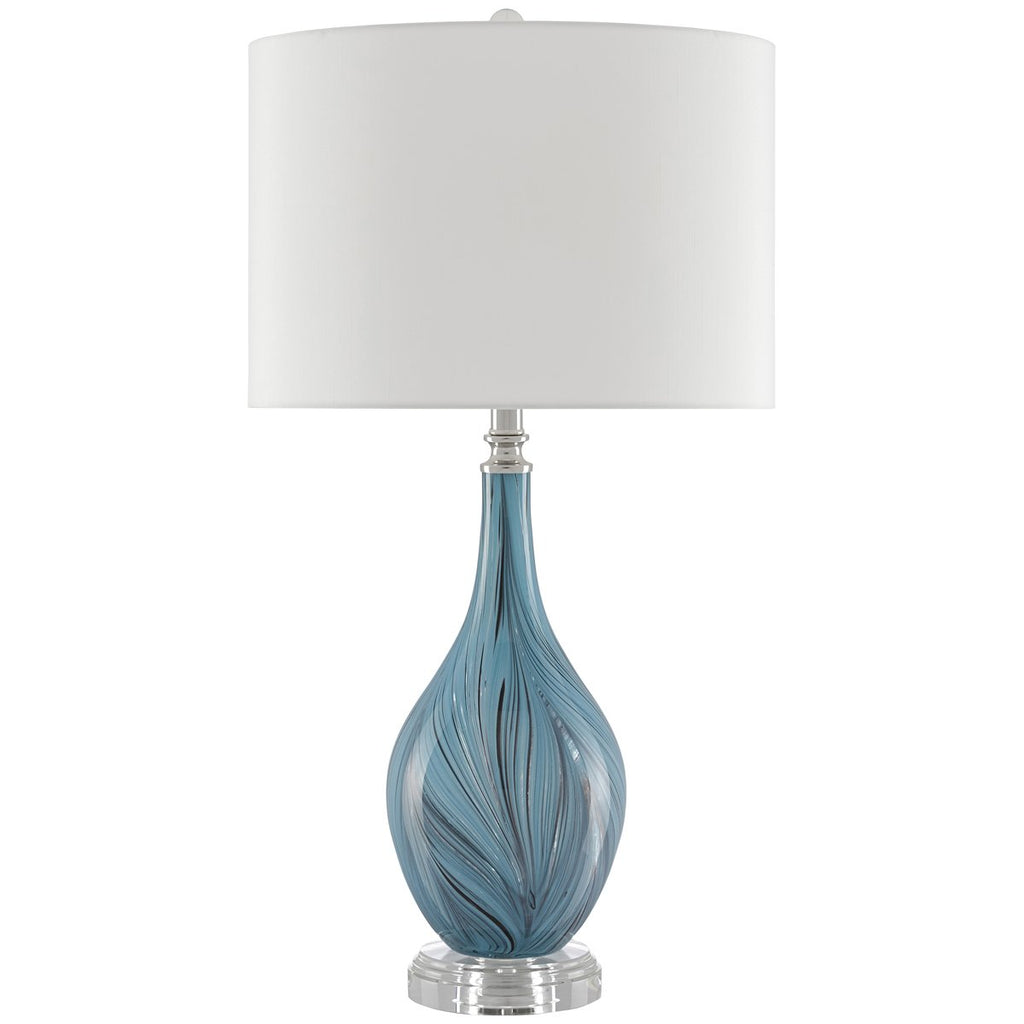 Currey and Company Lupo Aqua Table Lamp
