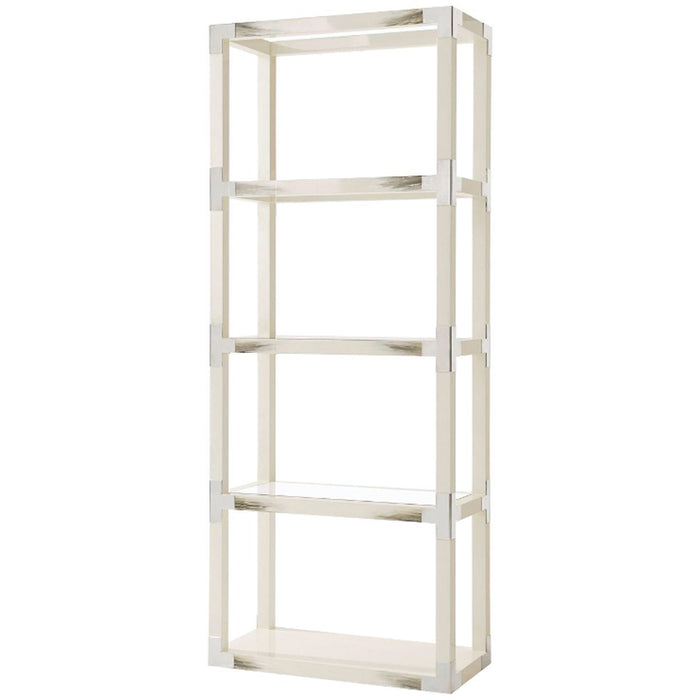 Theodore Alexander Cutting Edge Longhorn White Etagere