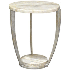 Palecek Brandt Marble Side Table