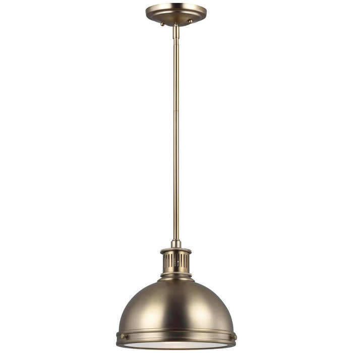 Sea Gull Lighting Pratt Street Metal 1-Light Pendant