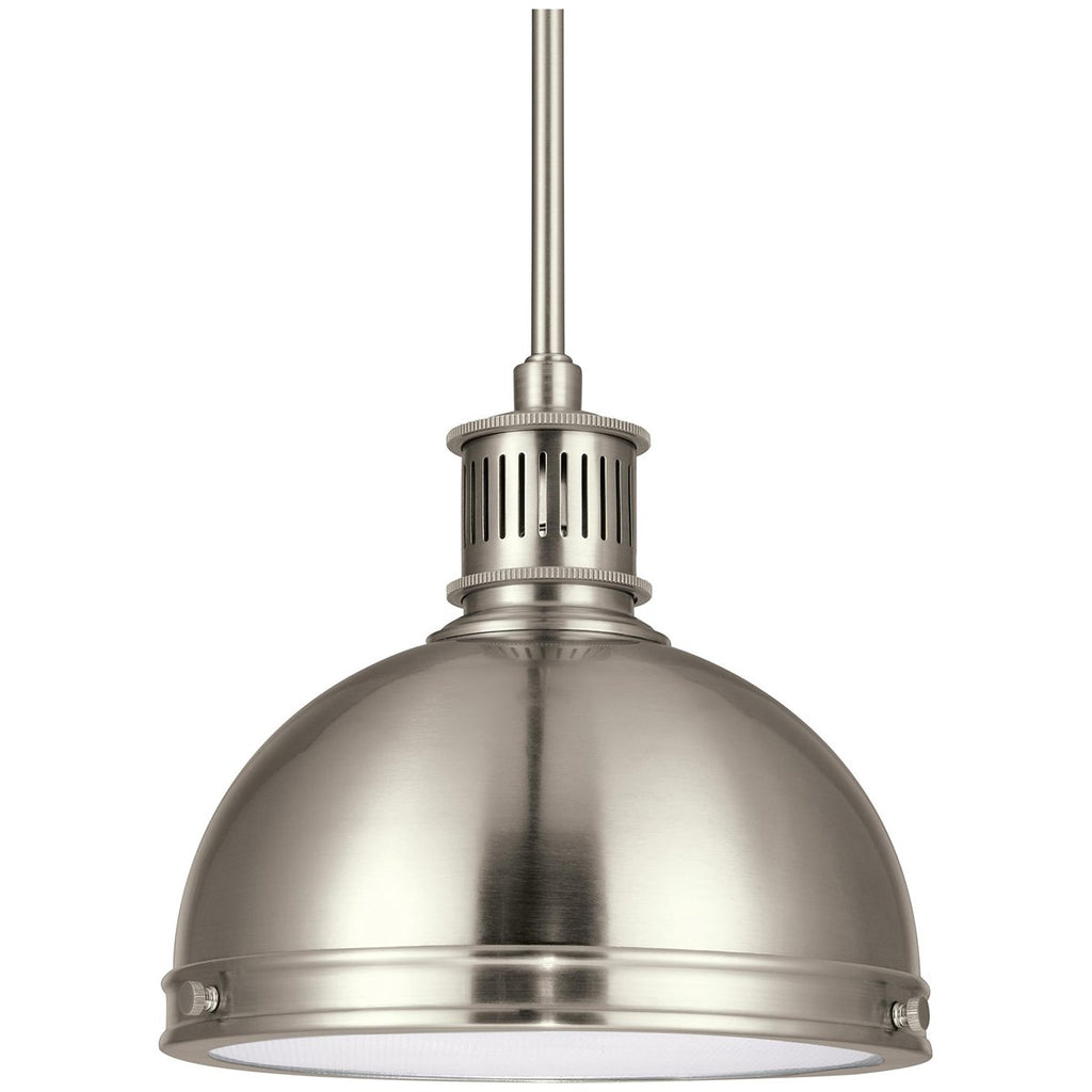 Sea Gull Lighting Pratt Street Metal Round One Light Pendant