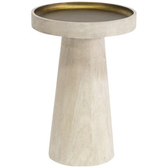 Palecek Orson White Side Table