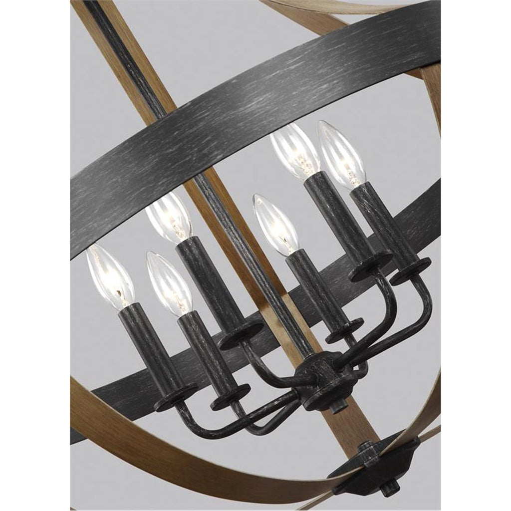 Sea Gull Lighting Davlin 6-Light Pendant - 3.5W