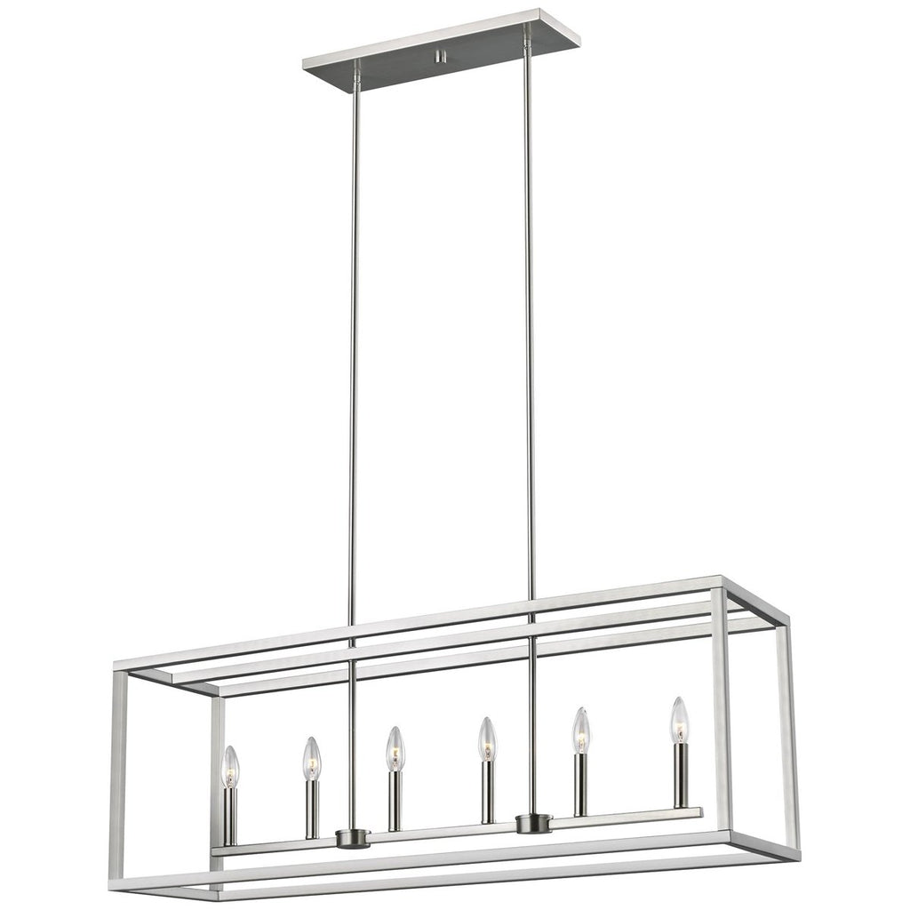 Sea Gull Lighting Moffet Street 6-Light Island Pendant - Steel