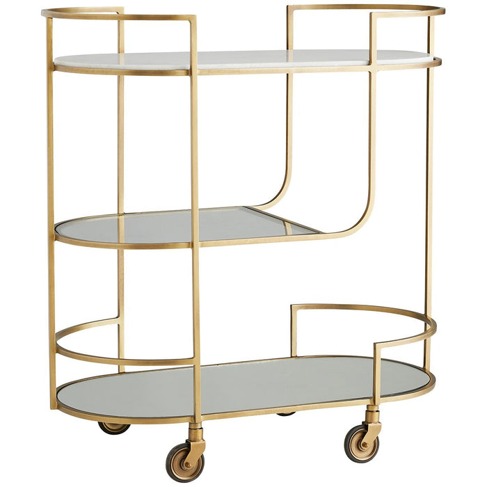 Arteriors Trainor Bar Cart