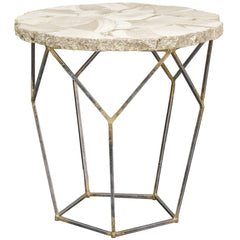 Palecek Loren Fossilized Clam Side Table