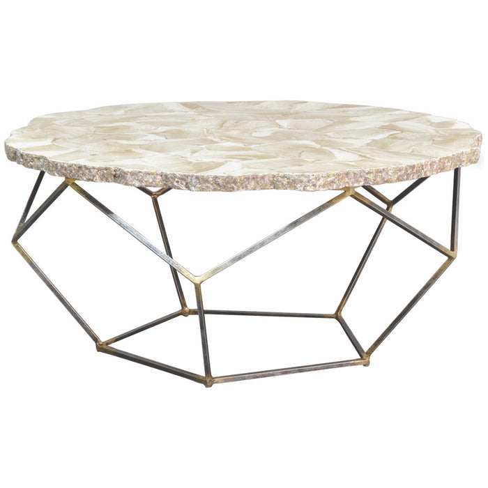 Palecek Loren Fossilized Clam Coffee Table