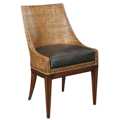 Woodbridge Furniture Woven Leather Chair