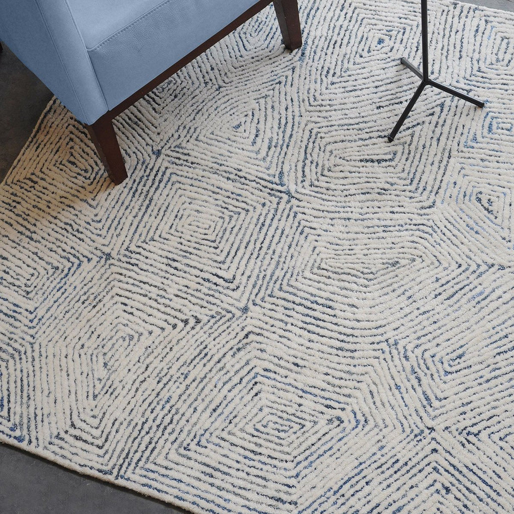 Uttermost Maze Blue Recycled Denim Rug