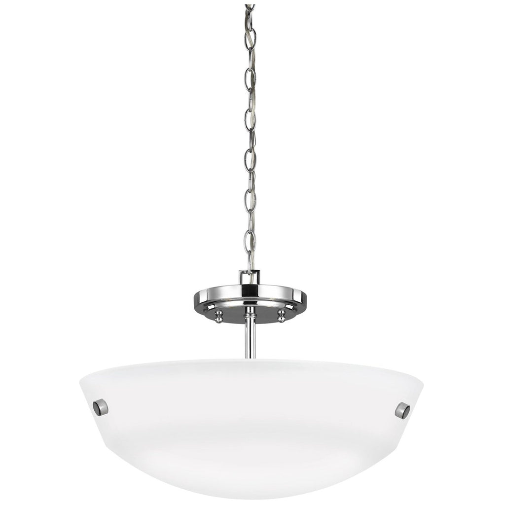 Sea Gull Lighting 2-Light Semi-Flush Convertible Pendant