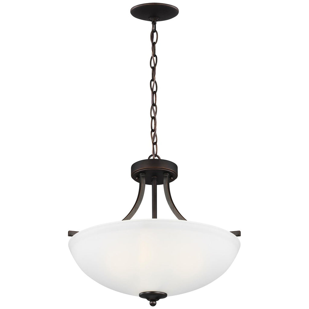 Sea Gull Lighting Geary Medium 3-Light Semi-Flush Convertible Pendant