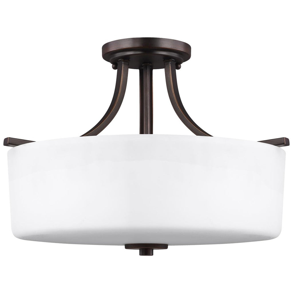 Sea Gull Lighting Canfield 3-Light Semi-Flush Mount