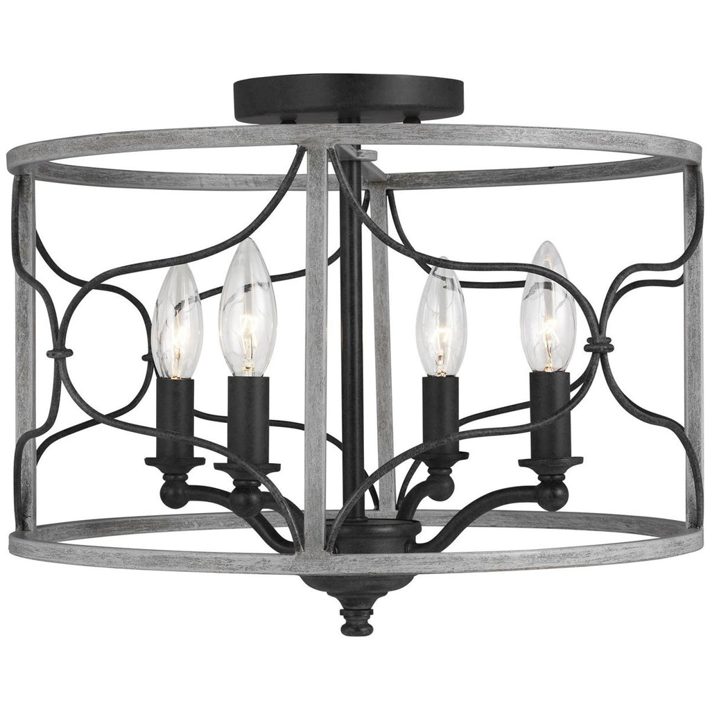 Sea Gull Lighting Carra 4-Light Semi-Flush Mount - 3.5W