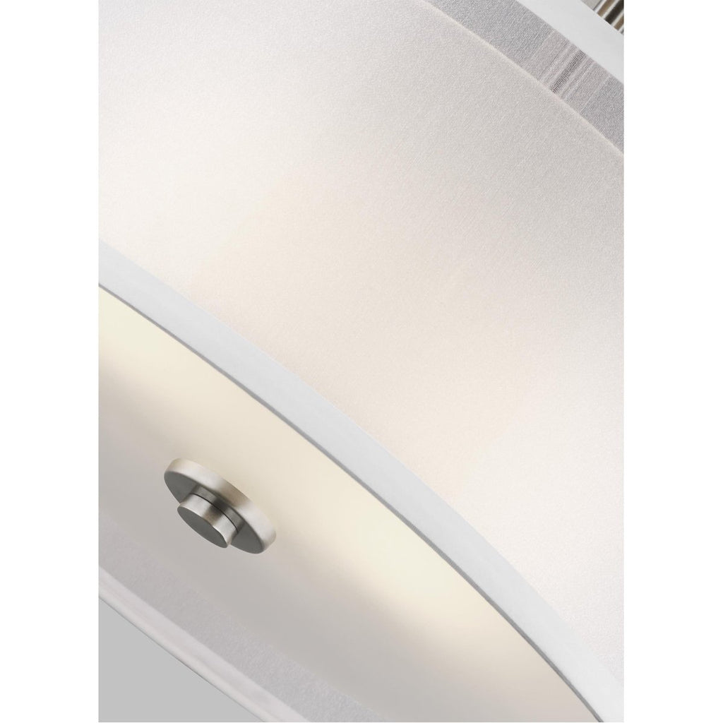 Sea Gull Lighting Elmwood Park 2-Light Semi-Flush Mount - 9.5W