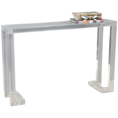 Interlude Home Ava Clear Console Table