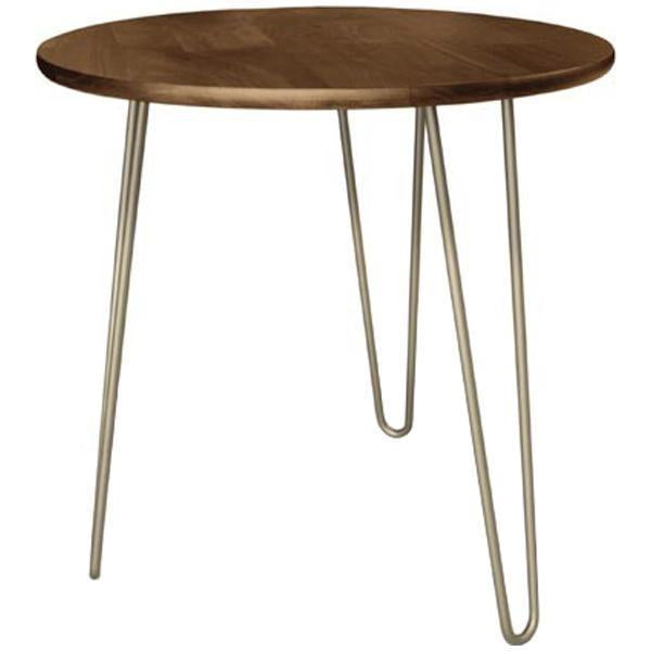 Copeland Furniture Essentials Round End Table with Metal Legs