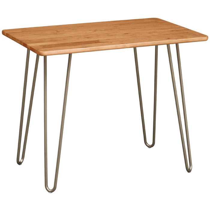 Copeland Furniture Essentials Rectangle End Table with Metal Legs