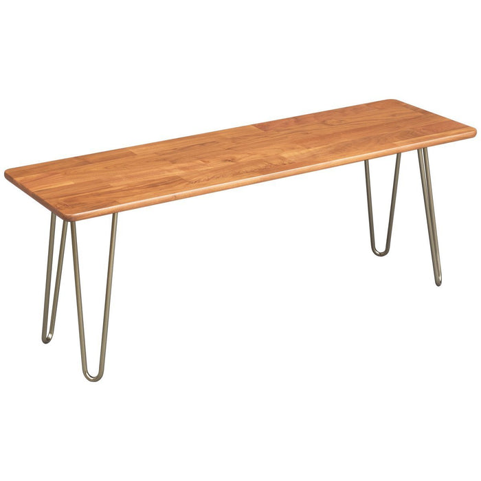 Copeland Furniture Essentials Bench with Metal Legs