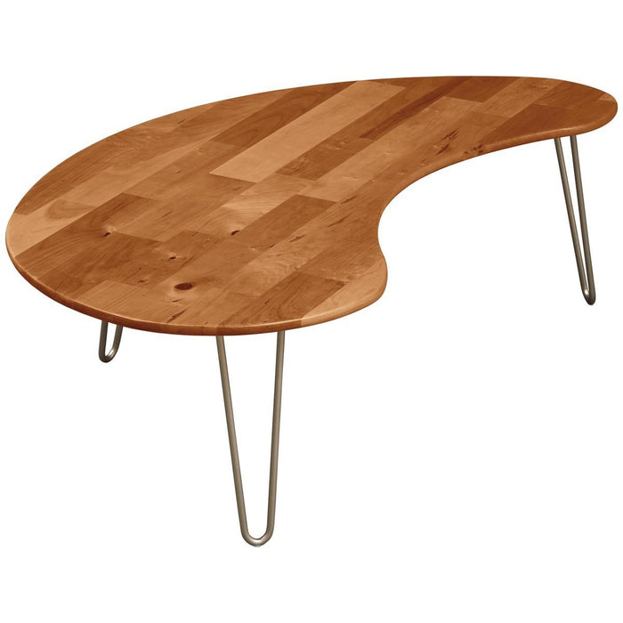 Copeland Furniture Essentials Kidney Shaped Coffee Table - Metal Legs