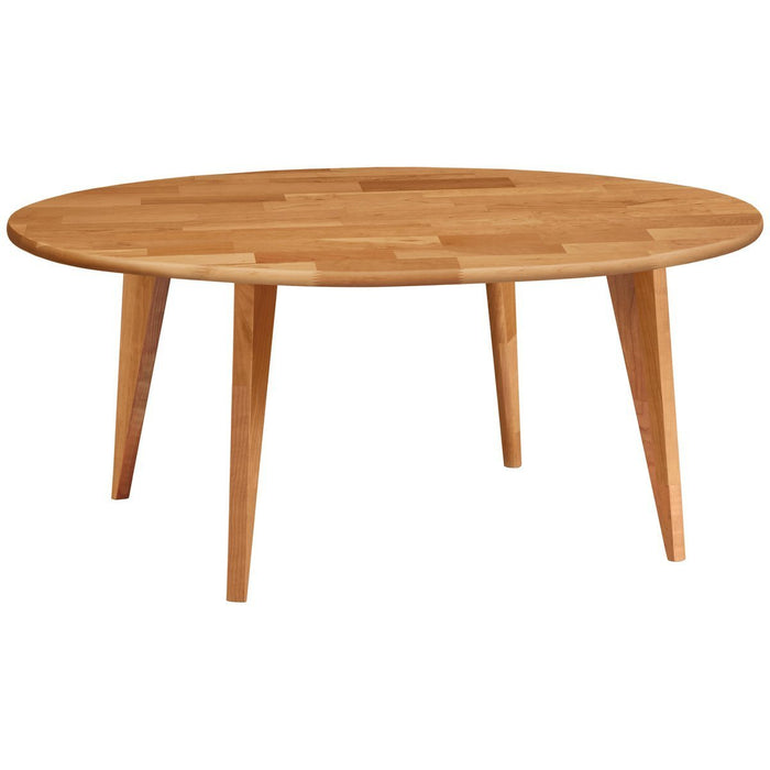 Copeland Furniture Essentials Round Coffee Table with Wood Legs