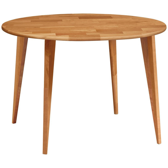 Copeland Furniture Essentials Round Dining Table with Wood Legs