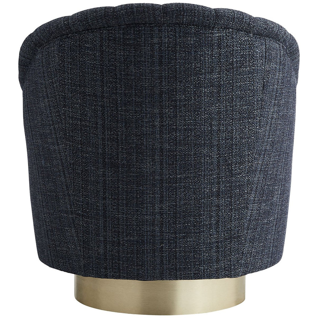 Arteriors Springsteen Tweed Swivel Chair - Champagne/Indigo