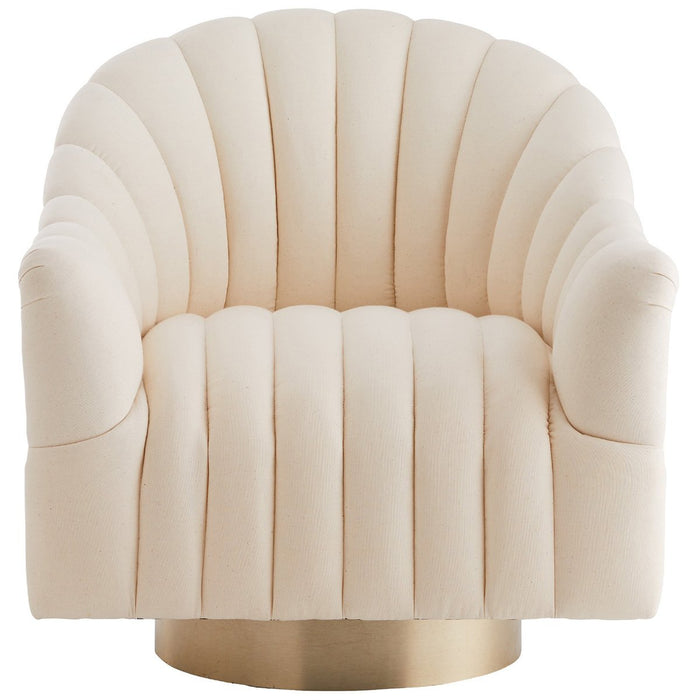 Arteriors Springsteen Muslin Swivel Chair - Champagne