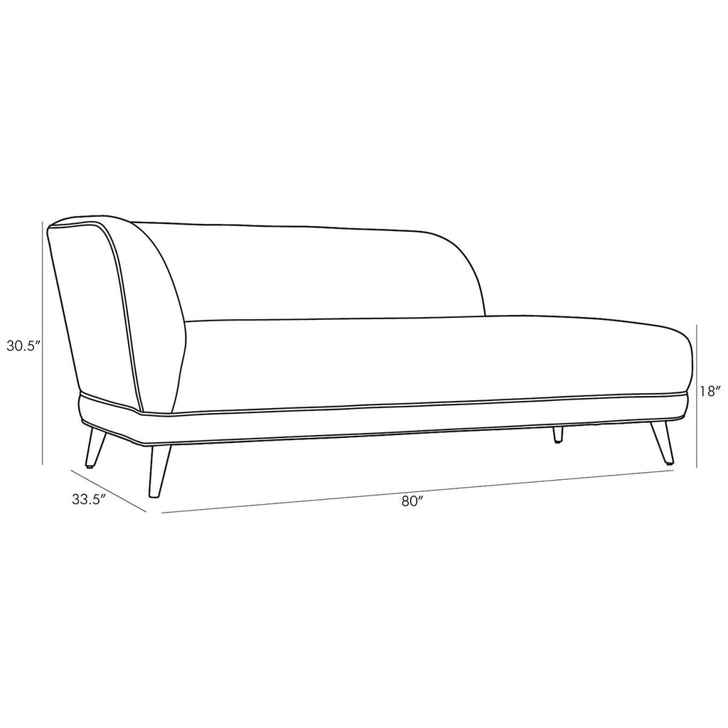 Arteriors Catalina Boucle Chaise - Stone