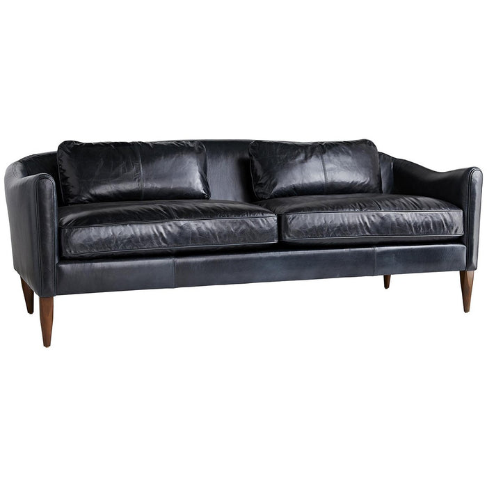 Arteriors Vincent Leather Sofa - Ink