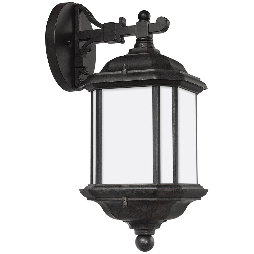 Sea Gull Lighting Satin Etched One Light Outdoor Wall Lantern