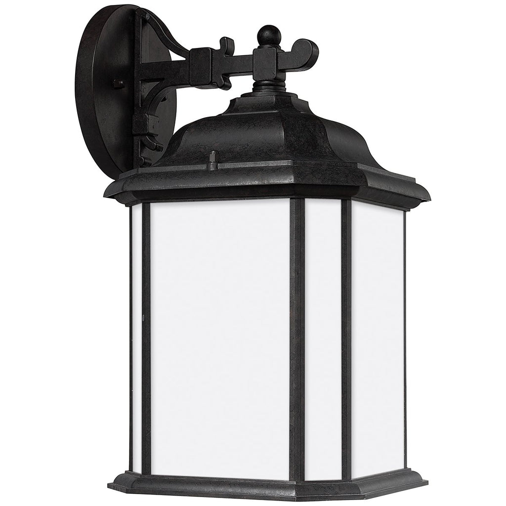 Sea Gull Lighting Kent Satin Etched One Light Outdoor Wall Lantern