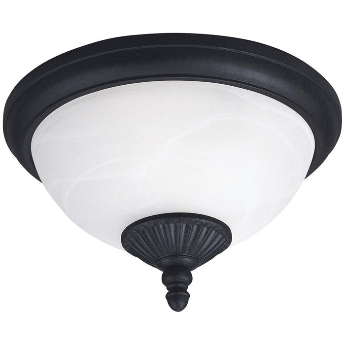 Sea Gull Lighting Yorktown 2-Light Outdoor Ceiling Flush Mount