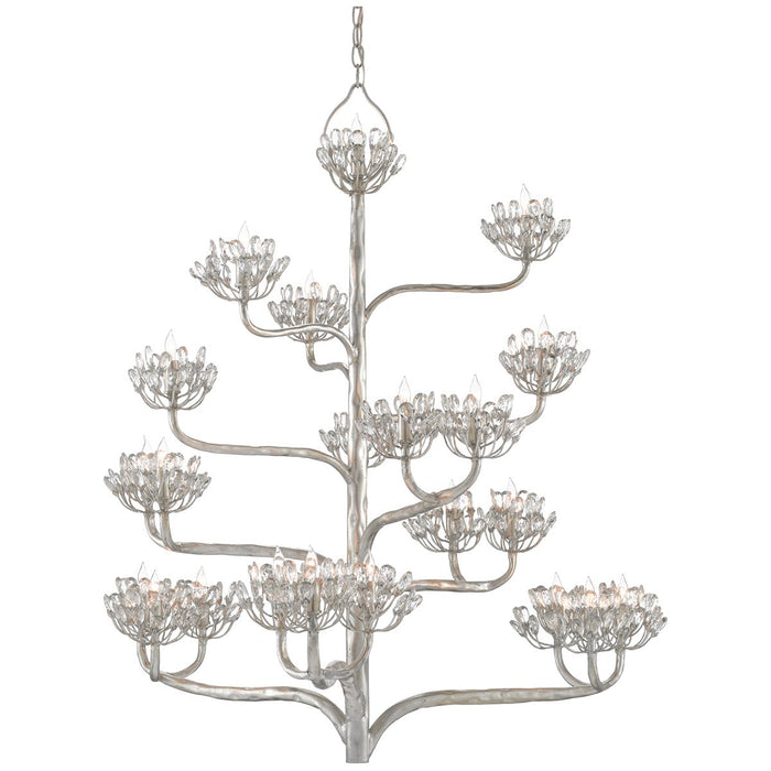 Currey and Company Agave Americana Silver Chandelier