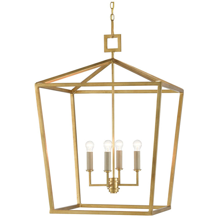 Currey and Company Denison Gold Large Lantern