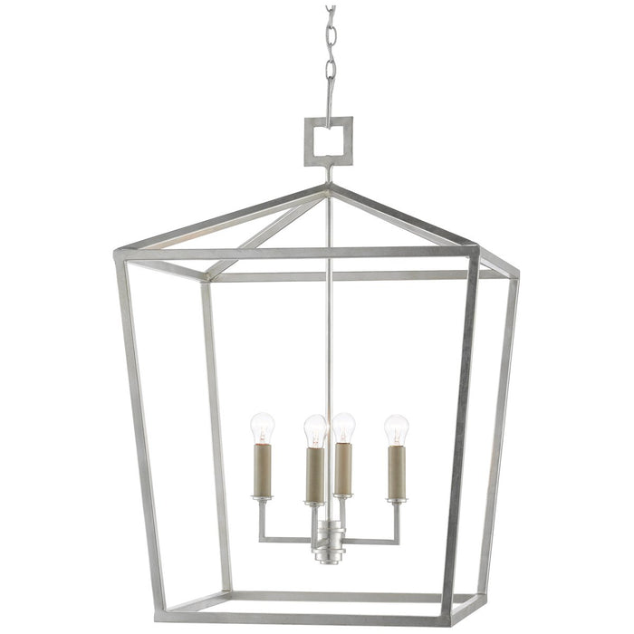 Currey and Company Denison Silver Large Lantern
