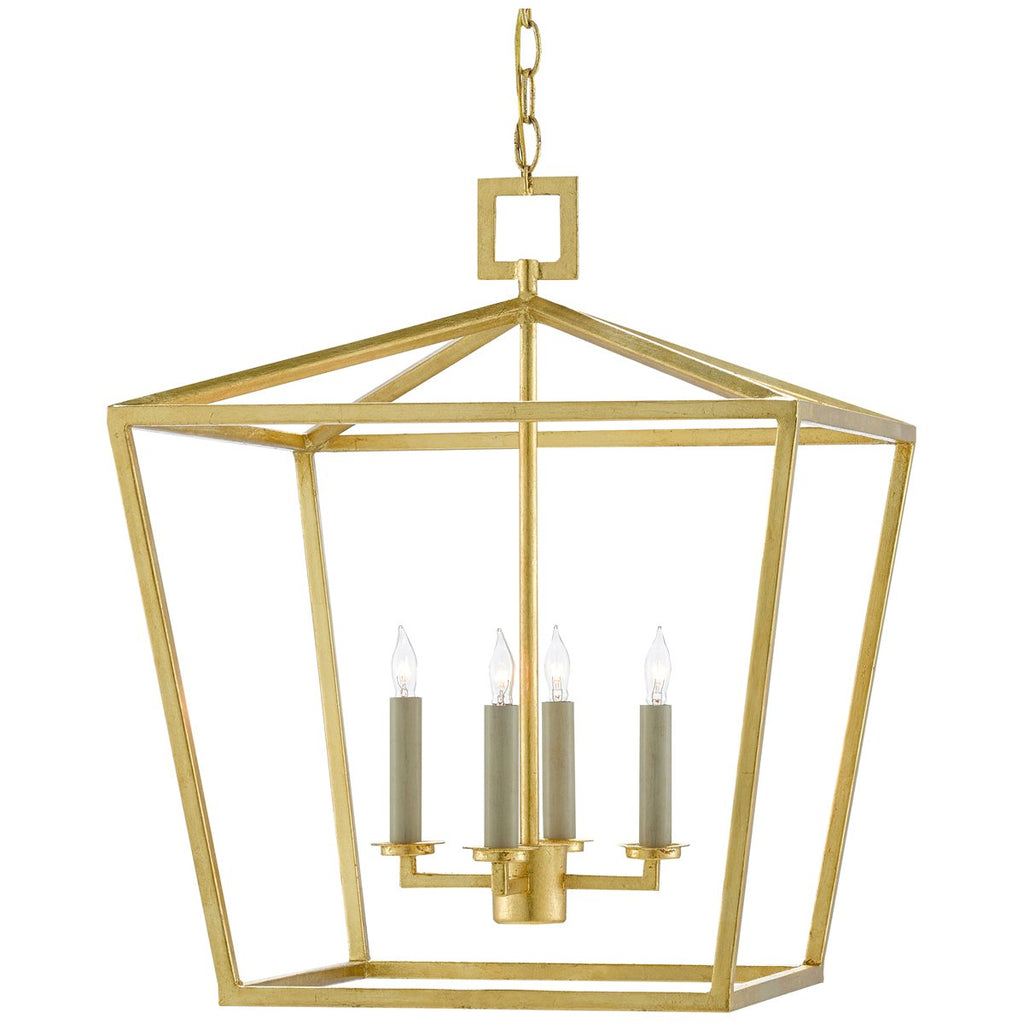 Currey and Company Denison Gold Lantern