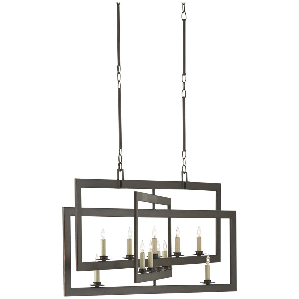 Currey and Company Middleton Rectangular Chandelier