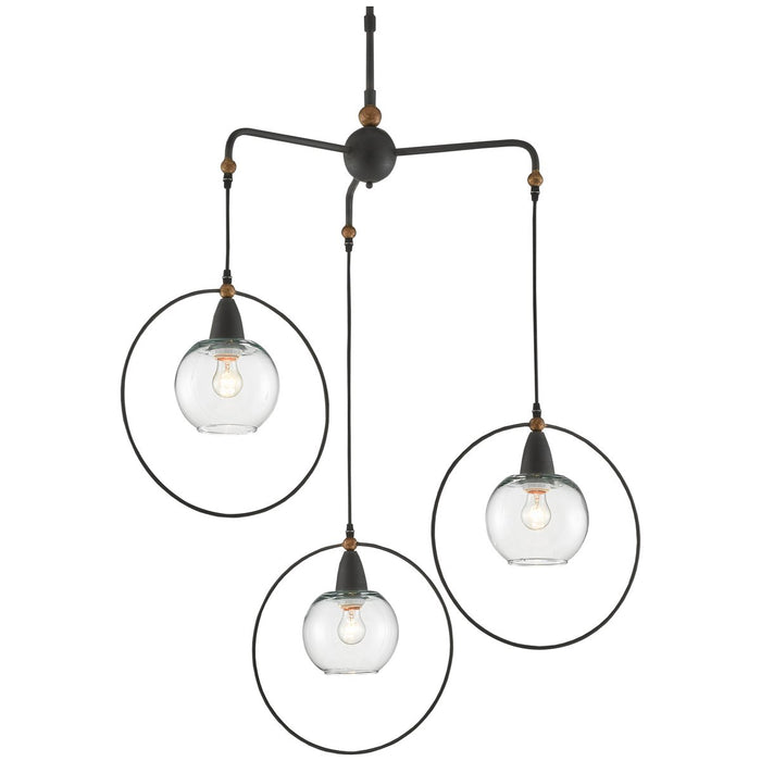 Currey and Company Moorsgate Trio Pendant