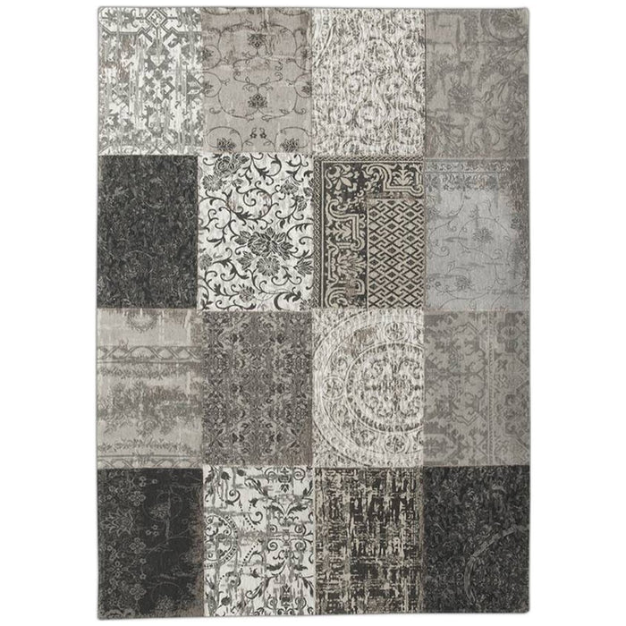 Louis de Poortere Vintage Multi 8101 Black and White Rug