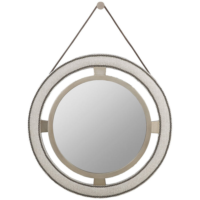 Vanguard Furniture Robineau Road Upholstered Round Mirror
