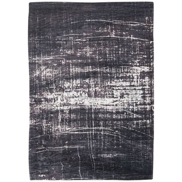 Louis de Poortere Mad Men Griff 8655 White on Black Rug
